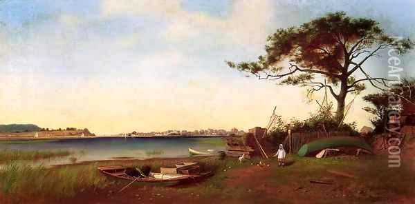 Seabright from Galilee Oil Painting - Francis Augustus Silva