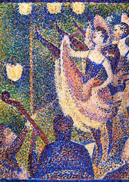Chahut (study) Oil Painting - Georges Seurat