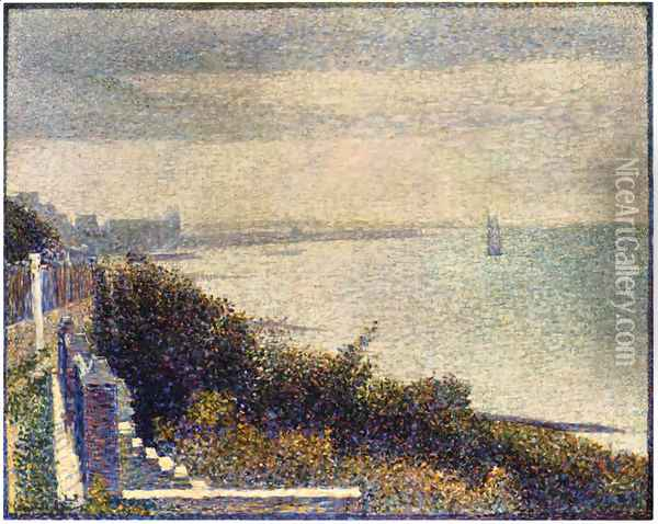 Grandcamp, Evening Oil Painting - Georges Seurat