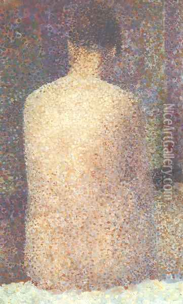 Model from Behind Oil Painting - Georges Seurat