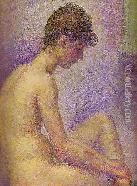 Models 2 Oil Painting - Georges Seurat