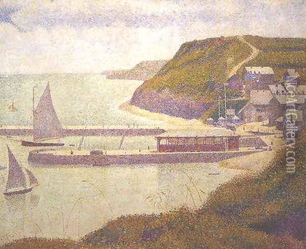 Port-en-Bessin, Outer Harbour at High Tide Oil Painting - Georges Seurat