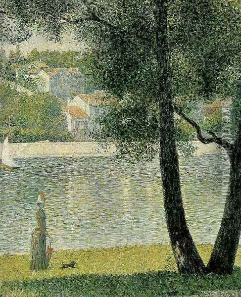 Seine at Courbevoie Oil Painting - Georges Seurat