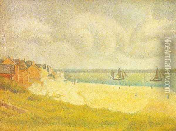 Sight of Le Crotoy from the north Oil Painting - Georges Seurat