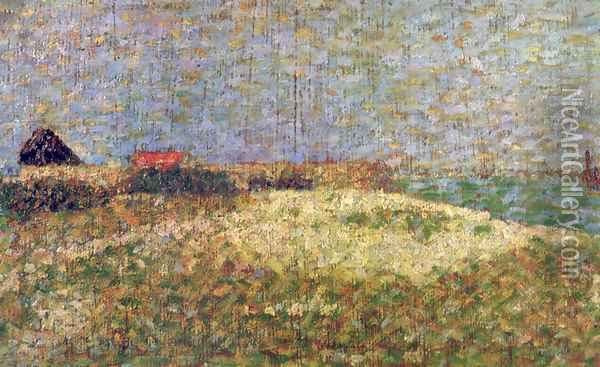 The away Samson in Grandcamp Oil Painting - Georges Seurat