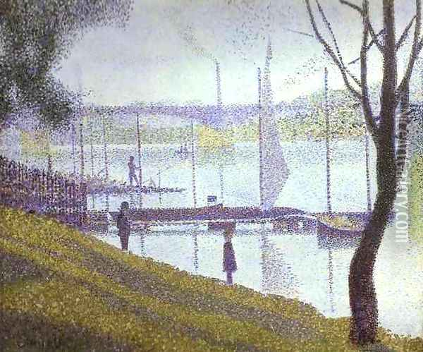The Bridge at Courbevoie Oil Painting - Georges Seurat