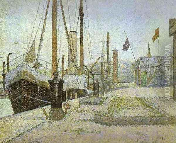The Maria at Honfleur Oil Painting - Georges Seurat