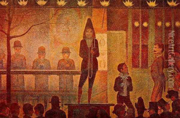 The Side Show Oil Painting - Georges Seurat