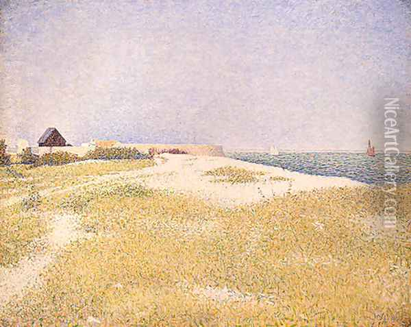 View of Fort Samson Oil Painting - Georges Seurat