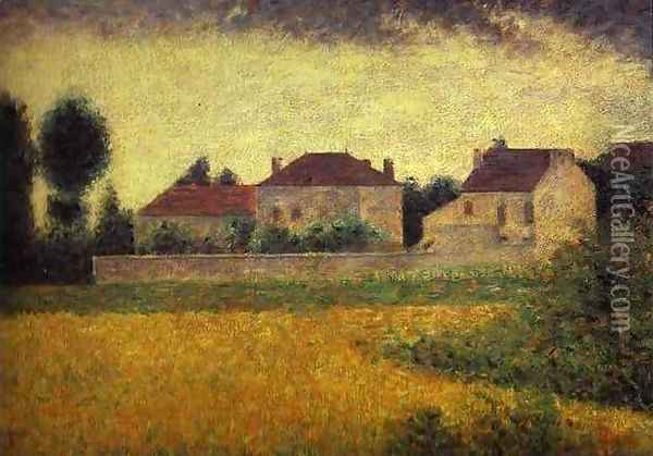 Ville-d'Avray Oil Painting - Georges Seurat
