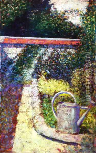 Watering Can Oil Painting - Georges Seurat