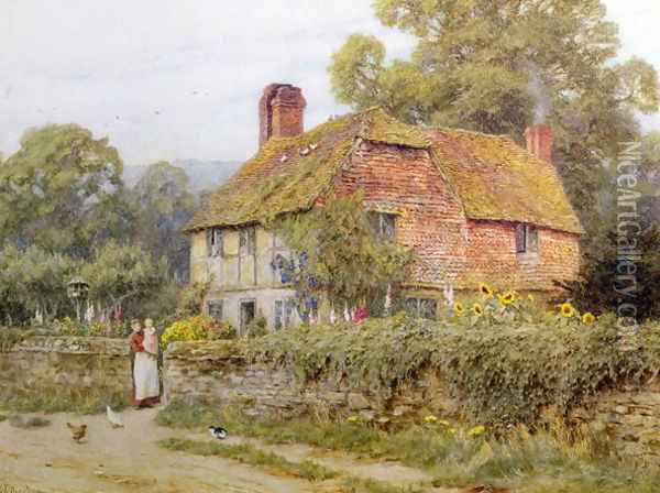 A Surrey Cottage Oil Painting - Helen Mary Elizabeth Allingham