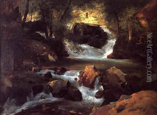 The Water Mill Oil Painting - Henry John Yeend King