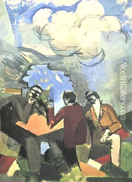 Sketch for The Conquest of the Air Oil Painting - Roger de La Fresnaye