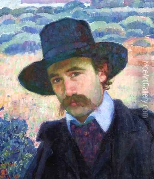 Andre Gide at Jersey Oil Painting - Theo van Rysselberghe