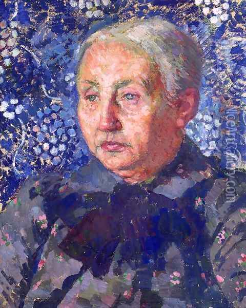 Portrait of Madame Monnon, the Artist's Mother-in-Law Oil Painting - Theo van Rysselberghe