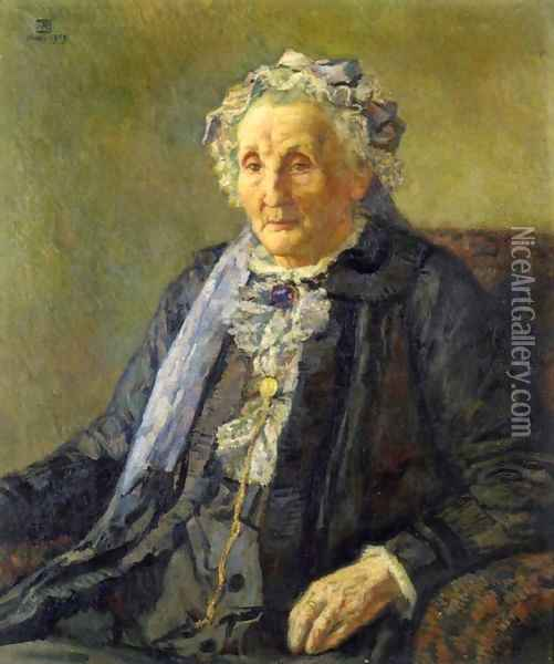 Portrait of Madame Monnon I Oil Painting - Theo van Rysselberghe