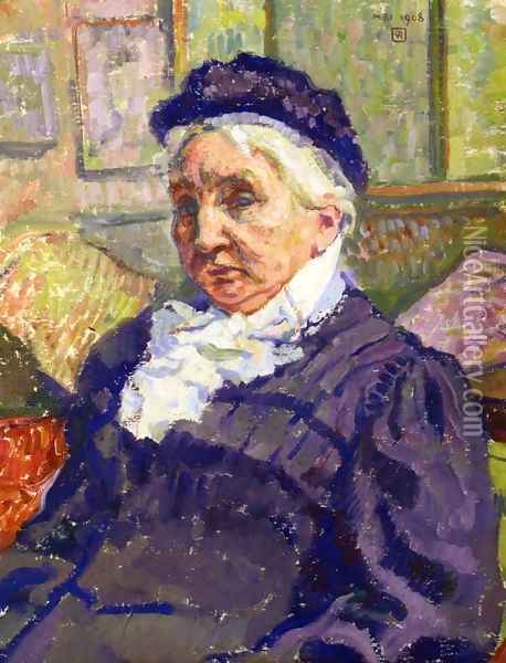 Portrait of Madame Monnon Oil Painting - Theo van Rysselberghe