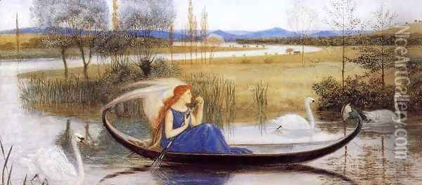 My Soul is an Enchanted Boat... Oil Painting - Walter Crane
