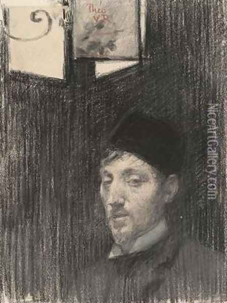 Self-Portrait Oil Painting - Theo van Rysselberghe