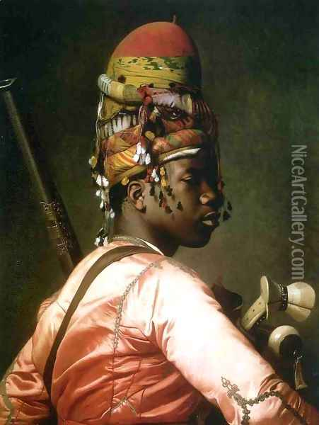 Black Bashi Bazouk Oil Painting - Jean-Leon Gerome