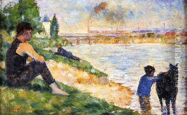The Black Horse Oil Painting - Georges Seurat