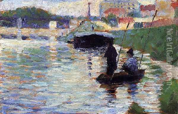 The Bridge View Of The Seine Oil Painting - Georges Seurat