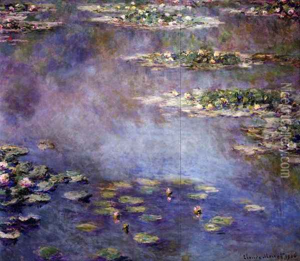 Water-Lilies 2 Oil Painting - Claude Oscar Monet