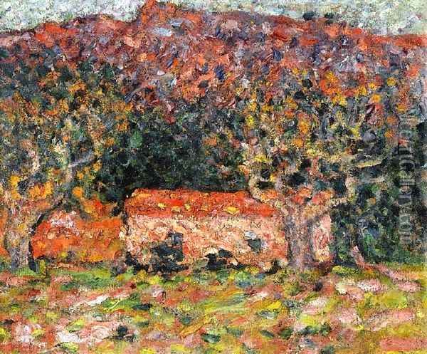 A House under the Olive Trees in Agay 1898 Oil Painting - Leon De Smet