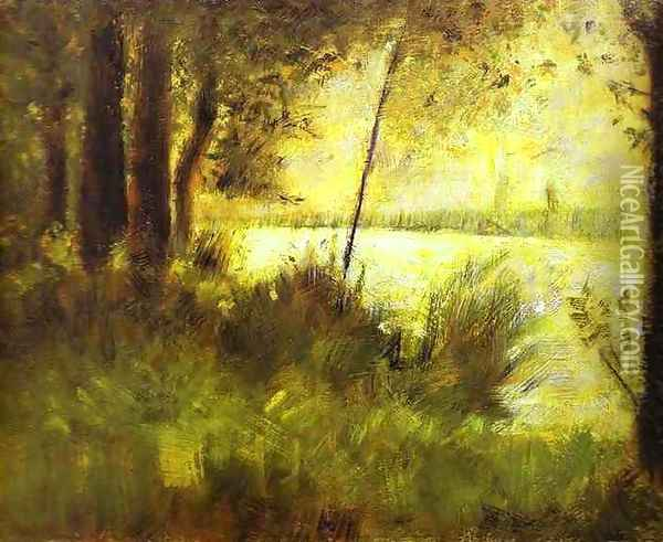 Grassy Hill 1881-82 Oil Painting - Georges Seurat