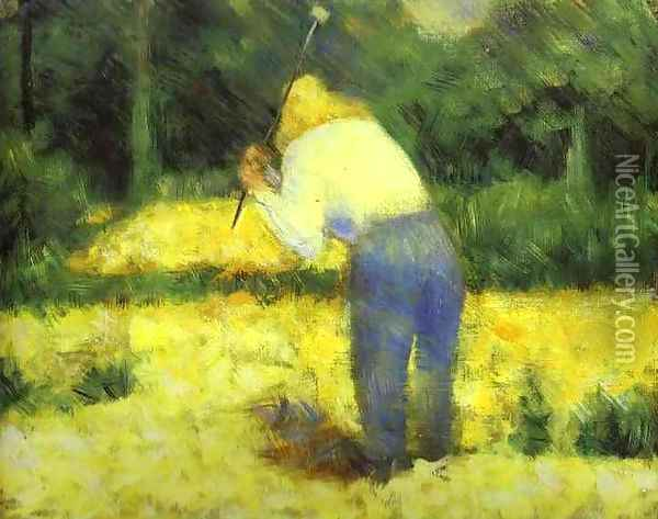 Le Tacheron 1882 Oil Painting - Georges Seurat