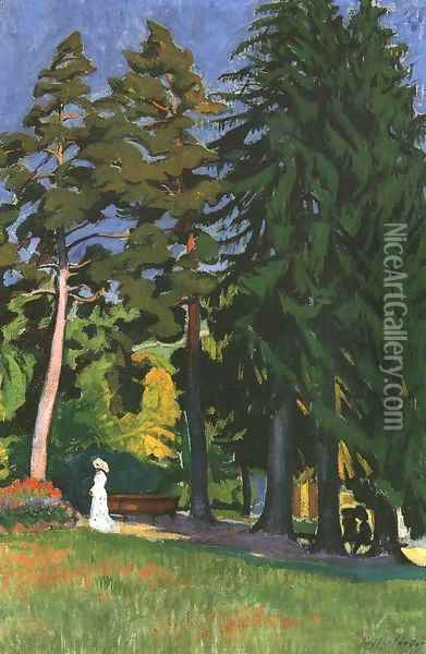 In the Park 1910 Oil Painting - Robert King