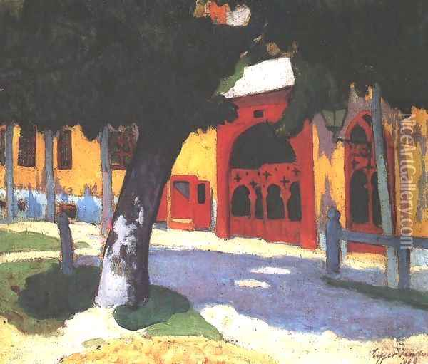 Red Gate 1908 Oil Painting - Robert King