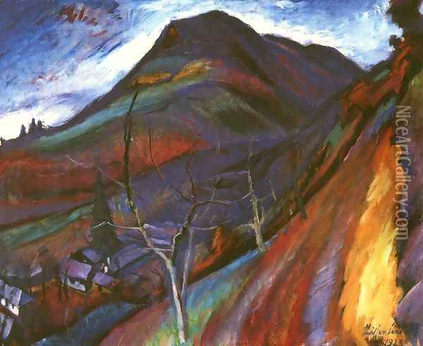 The Morgo Valley 1923 Oil Painting - Robert King