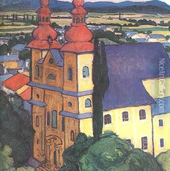 View from the Stephen Tower 1908 Oil Painting - Robert King