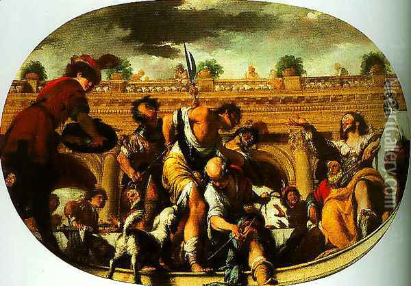The Parable of the Wedding Guest Oil Painting - Bernardo Cavallino