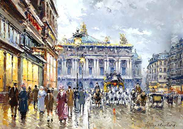 Avenue de l Opera Oil Painting - Agost Benkhard