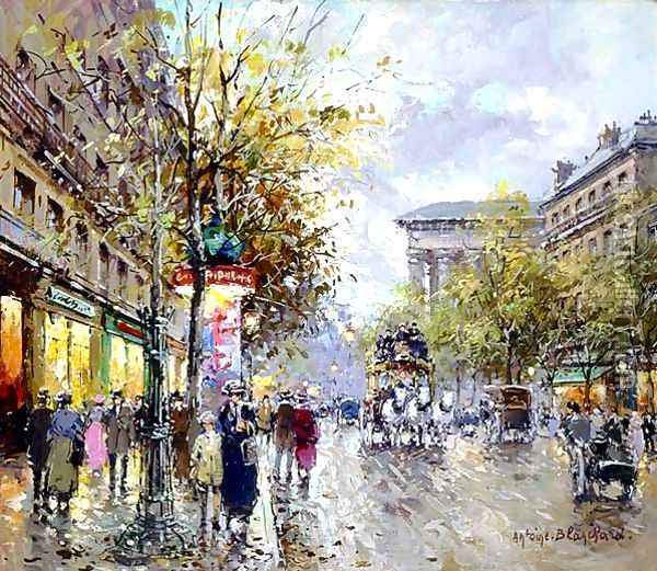 Boulevard des Capucines1 Oil Painting - Agost Benkhard