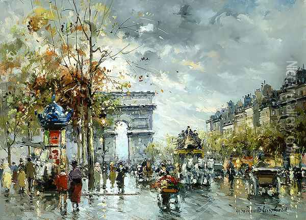 l Arc de Triomphe Oil Painting - Agost Benkhard