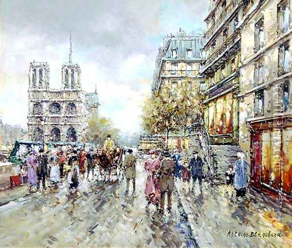 Notre Dame Oil Painting - Agost Benkhard