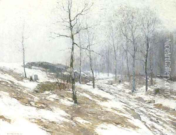 February Thaw Oil Painting - Bruce Crane
