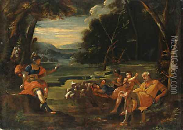 Erminia and the Shepherds Oil Painting - Lodovico Carracci
