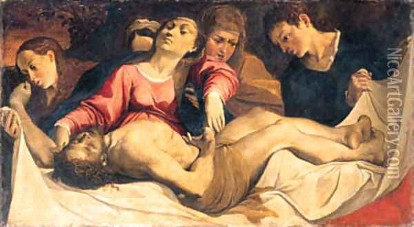 The Pieta Oil Painting - Lodovico Carracci
