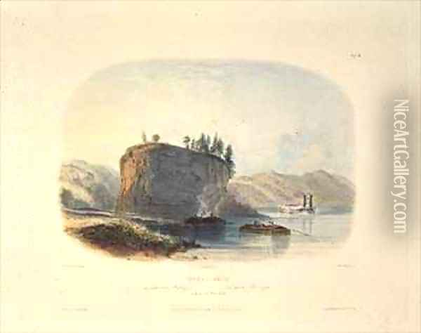 Tower-Rock, View on the Mississippi Oil Painting - Karl Bodmer