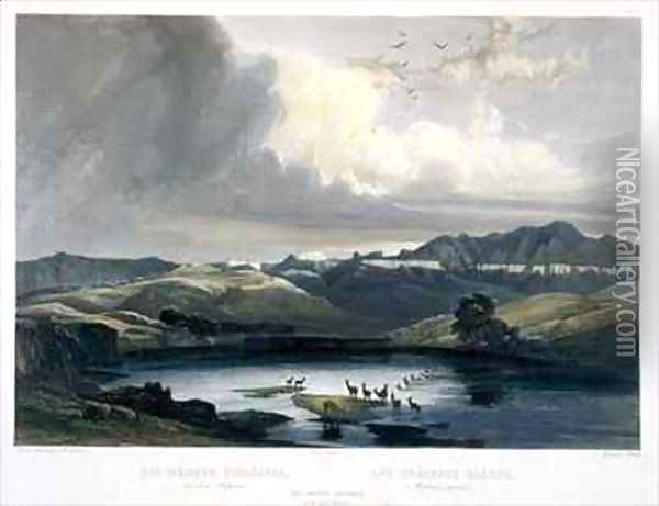 The White Castels on the Upper Missouri Oil Painting - Karl Bodmer