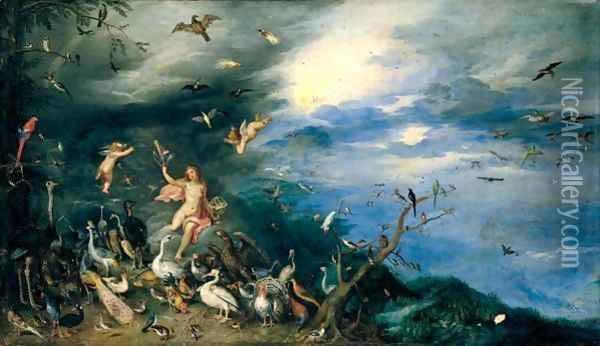 The Element Of Air Oil Painting - Jan Brueghel the Younger