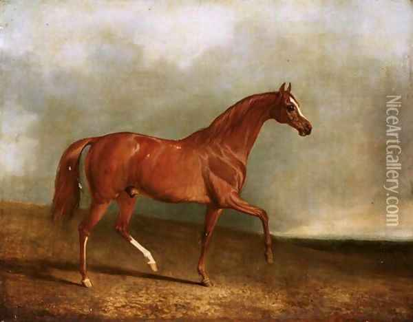 Pyrrhus The First - Winner Of The 1846 Derby Oil Painting - John Snr Ferneley