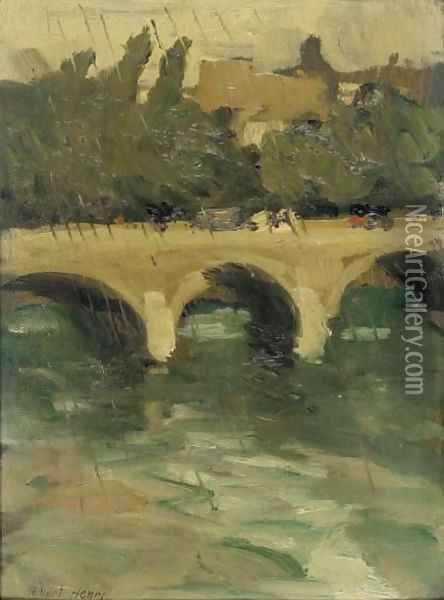 Chareton Bridge - Raining Oil Painting - Robert Henri