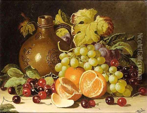 Still Life With Oranges And Jug Oil Painting - Charles Thomas Bale