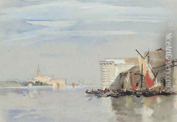 Guidecca Canal, Venice Oil Painting - Hercules Brabazon Brabazon